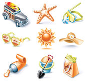 Vector cartoon style icon set. Part 16. Traveling Royalty Free Stock Photos