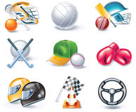 Vector cartoon style icon set. Part 36. Sport vector illustration