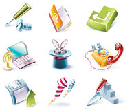 Vector cartoon style icon set. Part 4 Royalty Free Stock Photography