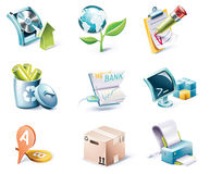 Vector Cartoon Style Icon Set. Part 6 Stock Photo