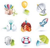 Vector cartoon style icon set. Part 7 Stock Image