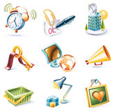 Vector cartoon style icon set. Part 9 Stock Image