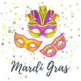 Mardi Gras greeting card royalty free stock image