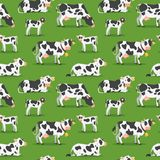 Seamless pattern with cows stock illustration