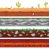 Different seamless grounds stock illustration