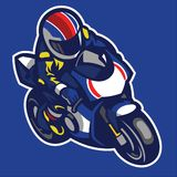 Cartoon style of sportbike motorcycle. Vector of Cartoon style of sportbike motorcycle Royalty Free Stock Image