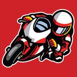 Cartoon style of sportbike race cornering. Vector of Cartoon style of sportbike race cornering Royalty Free Stock Photography