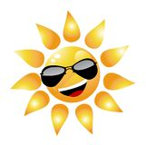 Vector Cartoon Sun Character Royalty Free Stock Photos