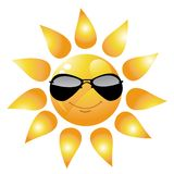 Vector Cartoon Sun Character Stock Photo