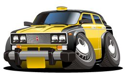 Vector cartoon taxi Stock Image