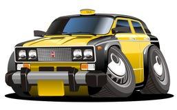 Vector cartoon taxi stock image