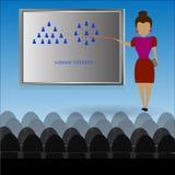 Vector - Cartoon A teacher is explaining plan business stock illustration