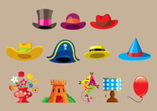 Vector cartoon things Royalty Free Stock Images