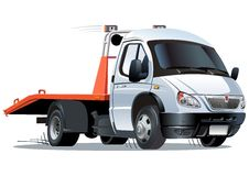 Vector cartoon tow truck Stock Photos