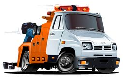 Vector cartoon tow truck royalty free stock photos