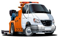 Vector cartoon tow truck Stock Image