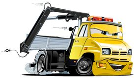 Vector Cartoon Tow Truck Stock Photo