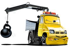 Vector Cartoon Tow Truck Royalty Free Stock Photography