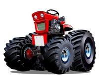 Vector Cartoon Tractor Royalty Free Stock Photo