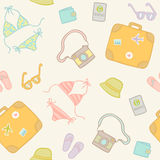 Vector cartoon travel seamless pattern Royalty Free Stock Image