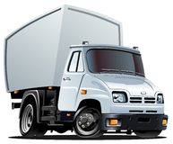 Vector cartoon truck. Vector illustration cartoon delivery/cargo truck. Available AI-10 separated by layers and groups for easy editing  format Royalty Free Stock Photography