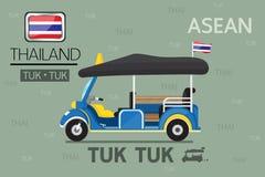 Vector : Cartoon Tuk Tuk in thailand Stock Photos
