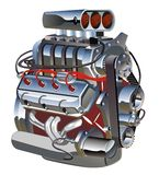 Vector cartoon turbo engine vector illustration