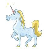 Vector cartoon unicorn Royalty Free Stock Photos