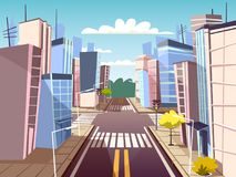 Free Vector Cartoon Urban Crossroad Concept Stock Image - 115567431