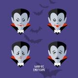 Vector cartoon vampire emoticons set Stock Images