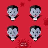 Vector cartoon vampire emoticons set Stock Photography