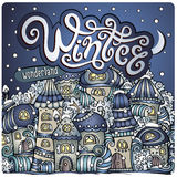 Vector cartoon winter fairytale town Royalty Free Stock Images