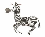 Vector cartoon zebra Stock Image