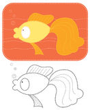 Vector cartoons goldfish. Stock Photography