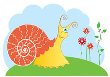 Vector cartoons snail Stock Photo