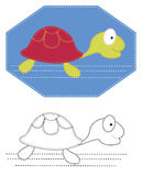 Vector cartoons turtle Stock Images