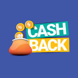 Vector cash back icon with coins and wallet Royalty Free Stock Photo