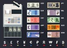 Vector cash register Royalty Free Stock Photo