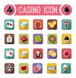 Vector casino flat icons, slot machine Stock Images