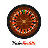 Vector Casino Gambling Roulette Wheel. Royalty Free Stock Photography