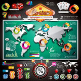 Vector Casino infographic set Stock Photo