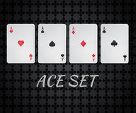 Vector casino playing card set of four aces Stock Image