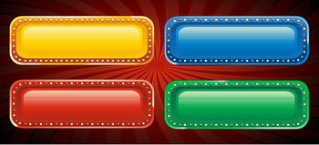 Vector casino sign. Gold casino sign, vector illustration Royalty Free Stock Images