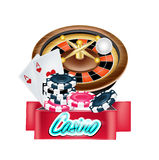 Vector casino sign isolated. On white Royalty Free Stock Photo