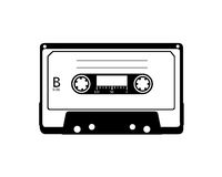 Vector of cassette. Vector/silhouette images of a old cassette