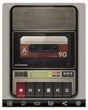 Vector Cassette Recorder Template With Icons Stock Photography