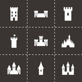 Vector castle icon set Royalty Free Stock Photography