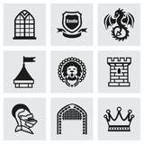 Vector Castle icon set Stock Photo