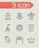 Vector Castle icon set Stock Image