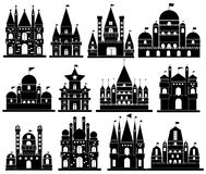 Vector of Castle icons Royalty Free Stock Photography